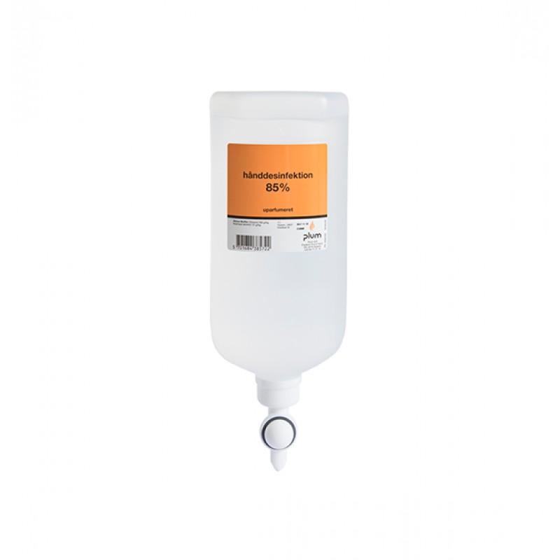38571 Disinfector 85% Liquid Απολυμαντικό Χεριών 1.0 l Σακούλα Διανομέα PLUM