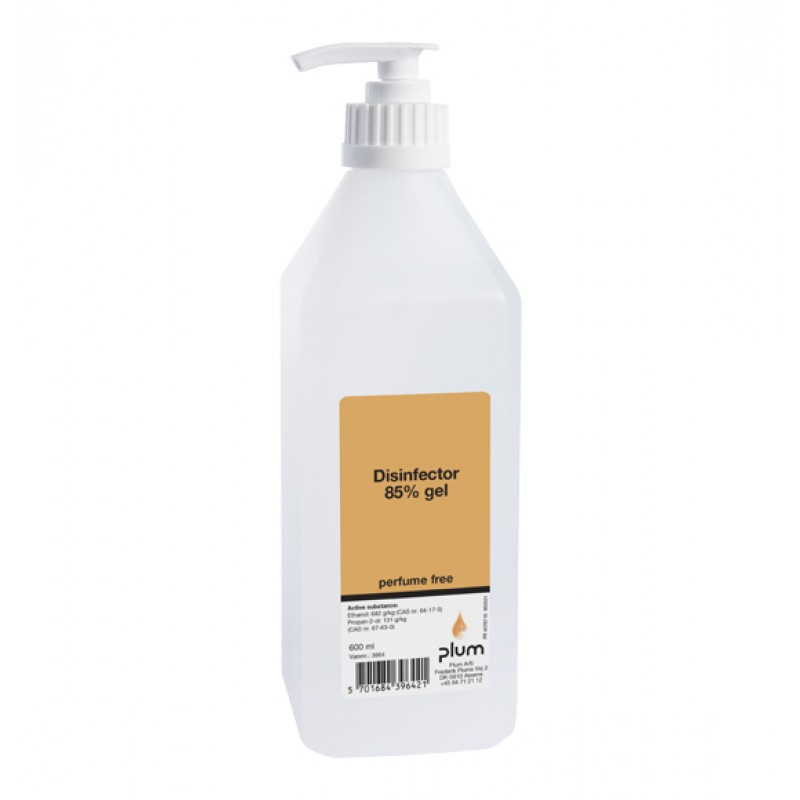 3964 Disinfector 85% Gel Απολυμαντικό Χεριών 600 ml Μπουκάλι με Αντλία PLUM