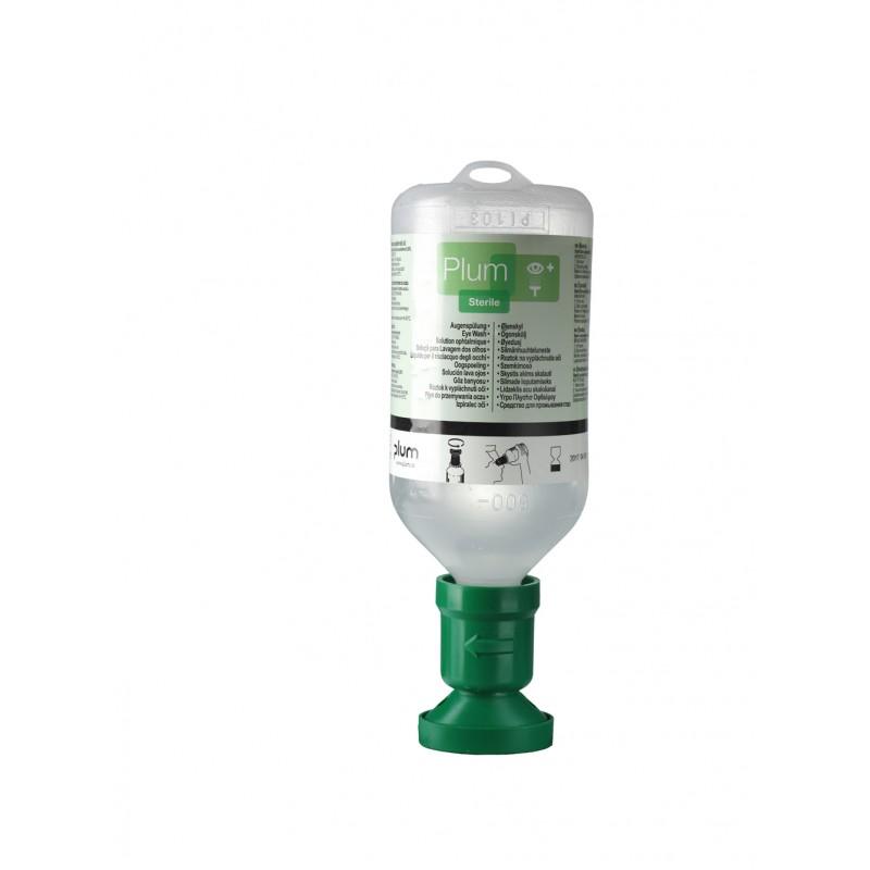4604 Πλυντηρίδα Ματιών 0,9% Διάλυμα Χλωριούχου Νατρίου , 500 ml Μπουκάλι με κύπελο οφθαλμού και καπάκι σκόνης PLUM