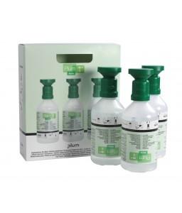 4620 Πλυντηρίδες Ματιών σε κουτί προβολής , 3 x 500 ml Μπουκάλια με κύπελο οφθαλμού και καπάκι σκόνης PLUM
