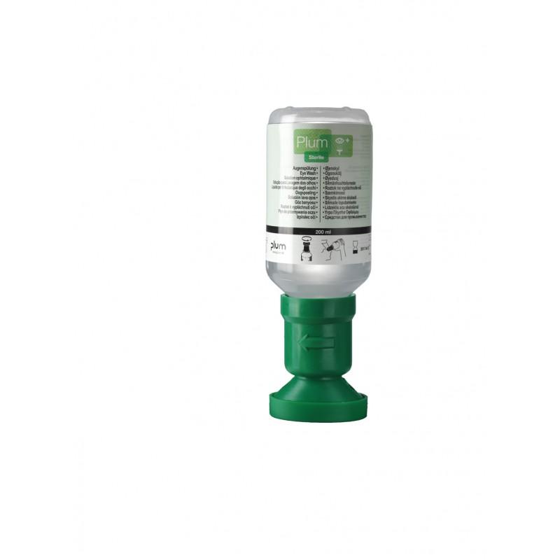 4691 Πλυντηρίδα Ματιών 0,9% Διάλυμα Χλωριούχου Νατρίου , 200 ml Μπουκάλι με κύπελο οφθαλμού και καπάκι σκόνης PLUM