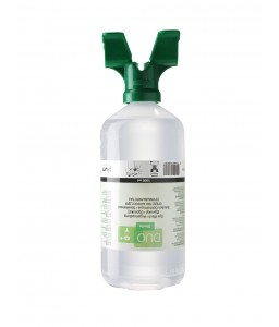 4800 Πλυντηρίδα Ματιών DUO 0,9% Διάλυμα Χλωριούχου Νατρίου , 1000 ml Μπουκάλι με δύο πλυντηρίδες PLUM