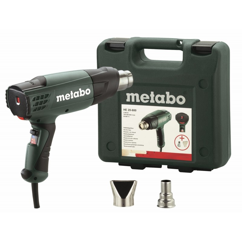 HE 20-600 Σετ Πιστόλι Θερμού Αέρα 2000 Watt Metabo