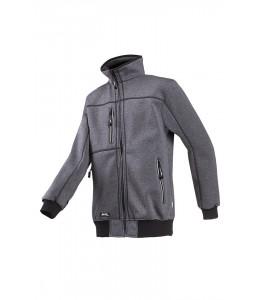Sherwood Μπλούζα με επένδυση fleece Ανθρακί SIOEN