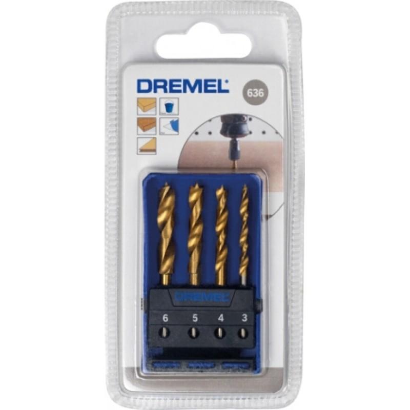 636 - σετ 4 τρυπάνια ξύλου σε κασετίνα DREMEL