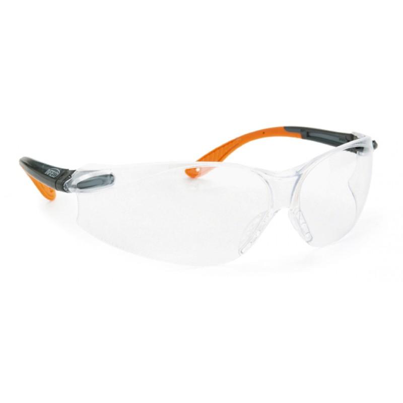 9041 105 Γυαλιά Ασφαλείας Διαφανή Αντιχαρακτικά SPIDOR BLACK-ORANGE PC AS UV