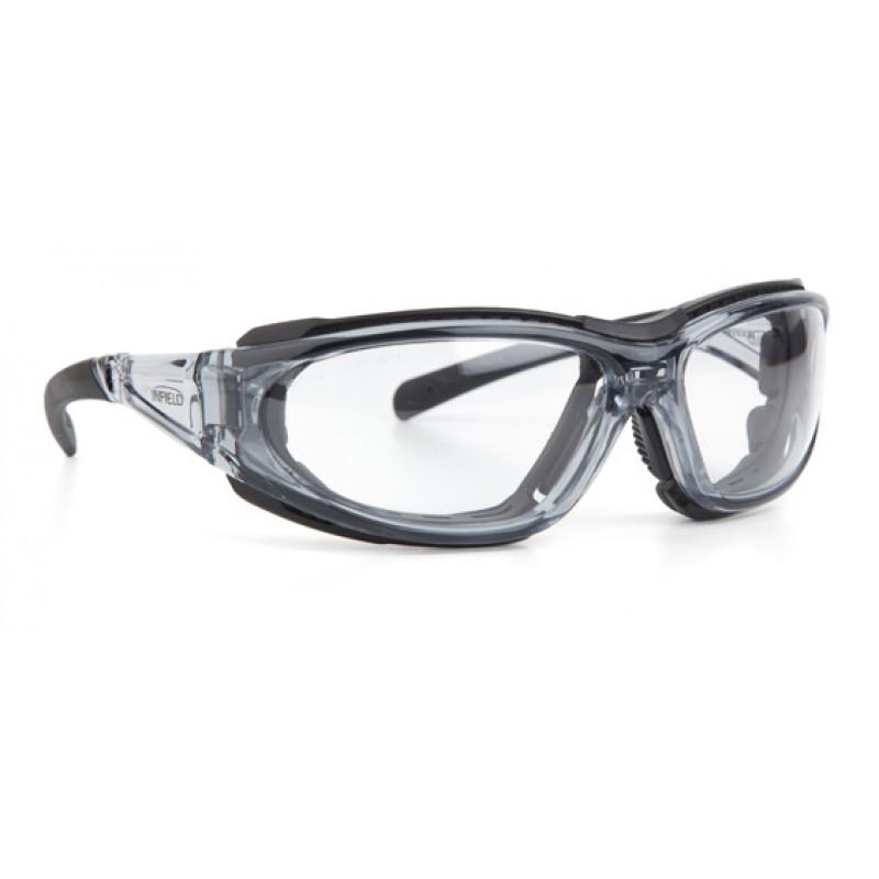 9350 006 Γυαλιά Ασφαλείας Διαφανή Αντιαντιθαμβωτικά MIRADOR CRYSTAL BLACK PC AFP UV