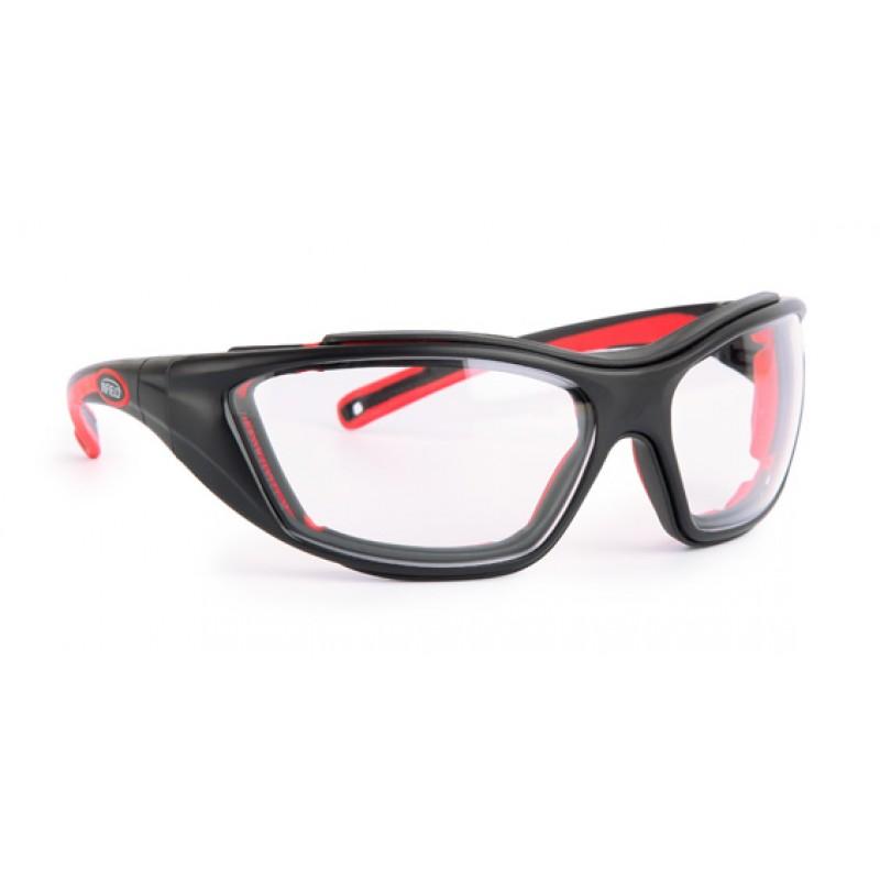 9614 155 Γυαλιά Ασφαλείας Διαφανή Αντιαντιθαμβωτικά COMBOR BLACK/RED PC AF UV