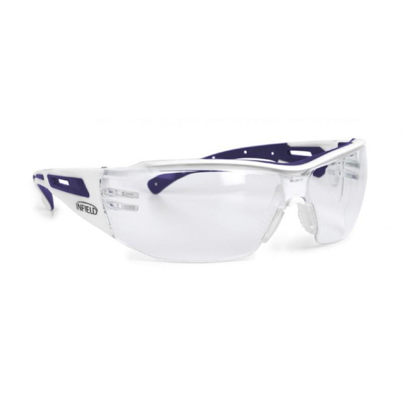 9760 155 Γυαλιά Ασφαλείας Διαφανή Αντιαντιθαμβωτικά VICTOR SMALL WHITE/LILA PC AF UV