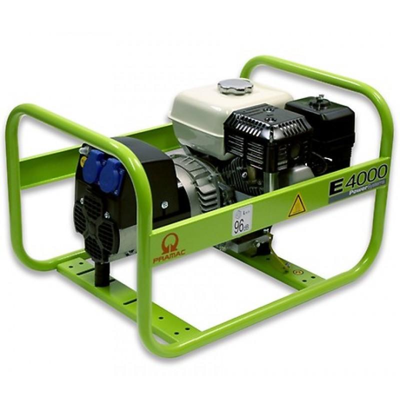 E4000 Ηλεκτρο - Γεννήτρια Βενζίνης 1-Φασική 2,9 kVA με Χειρόμιζα και χειροκίνητο πίνακα ελέγχου Honda GX200 PRAMAC