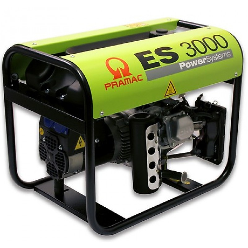 ES3000 Ηλεκτρο - Γεννήτρια Βενζίνης 1-Φασική 2,5 kVA με Χειρόμιζα και χειροκίνητο πίνακα ελέγχου Honda GX160 PRAMAC
