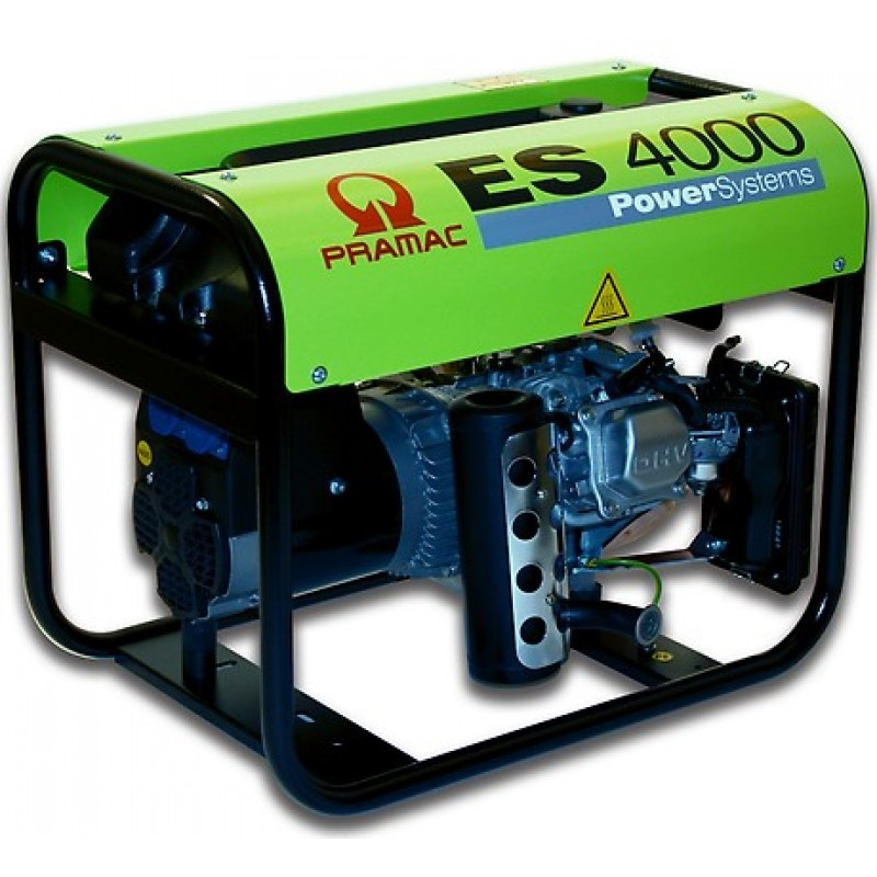 ES4000 Ηλεκτρο - Γεννήτρια Βενζίνης 1-Φασική 2,9 kVA με Χειρόμιζα και χειροκίνητο πίνακα ελέγχου Honda GX200 PRAMAC