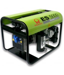 ES5000 Ηλεκτρο - Γεννήτρια Βενζίνης 1-Φασική 4,2 kVA με Χειρόμιζα και χειροκίνητο πίνακα ελέγχου + AVR (αυτόματο ρυθμιστή τάσης) Honda GX270 PRAMAC