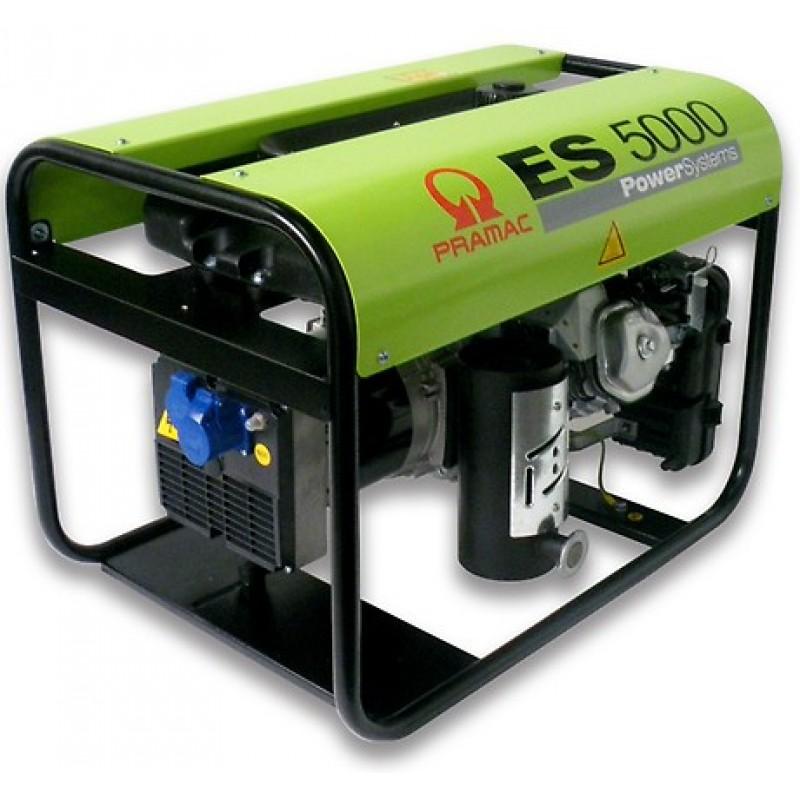 ES5000 Ηλεκτρο - Γεννήτρια Βενζίνης 1-Φασική 4,2 kVA με Χειρόμιζα και χειροκίνητο πίνακα ελέγχου Honda GX270 PRAMAC