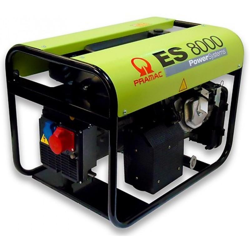 ES8000 Ηλεκτρο - Γεννήτρια Βενζίνης 3-Φασική 7,0 kVA με Χειρόμιζα και χειροκίνητο πίνακα ελέγχου Honda GX390 PRAMAC
