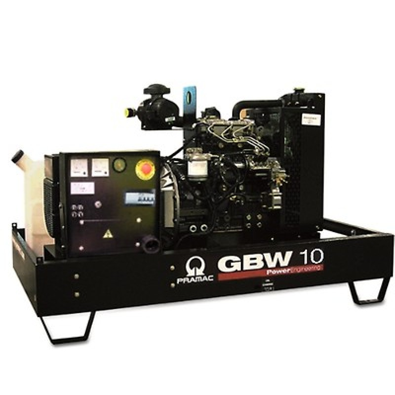 GBW 10 Y Ηλεκτρο - Γεννήτρια πετρελαίου ανοικτού τύπου 9,3 kVA MCP χειροκίνητο πίνακα ελέγχου (ALT.LI) PRAMAC