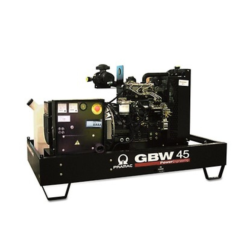 GBW 45 Y Ηλεκτρο - Γεννήτρια πετρελαίου ανοικτού τύπου 45,9 kVA MCP χειροκίνητο πίνακα ελέγχου (ALT.M) PRAMAC