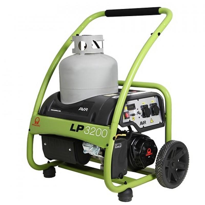 LP 3200 Ηλεκτρο - Γεννήτρια Βενζίνης 1-Φασική 2,70 kVA με Χειρόμιζα και χειροκίνητο πίνακα ελέγχου Pramac DJ170F PRAMAC