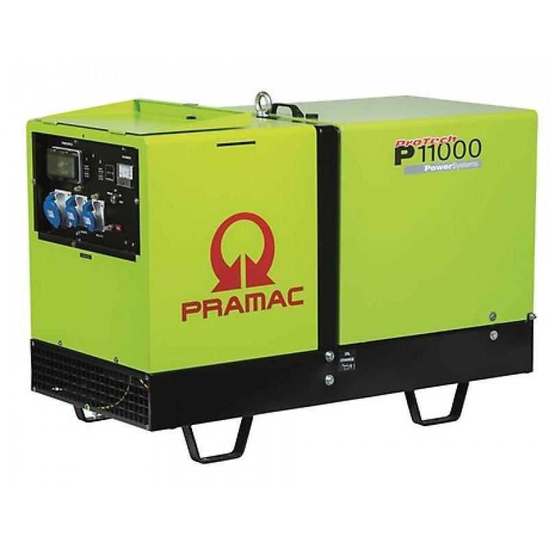 P11000 Ηλεκτρο - Γεννήτρια Πετρελαίου 3-Φασική 10,0 kVA Ηλεκτρική εκκίνηση και Αυτόματο με μεταγωγή (AMF) Yanmar 3TNV70 PRAMAC