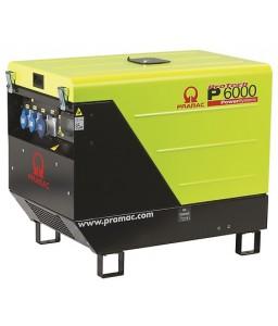P6000 Ηλεκτρο - Γεννήτρια Πετρελαίου 1-Φασική 4,8 kVA Ηλεκτρική εκκίνηση και χειροκίνητο πίνακα ελέγχου CONN ( δυνατότητα σύνδεσης με AMF) + DPP + AVR Yanmar L100 PRAMAC
