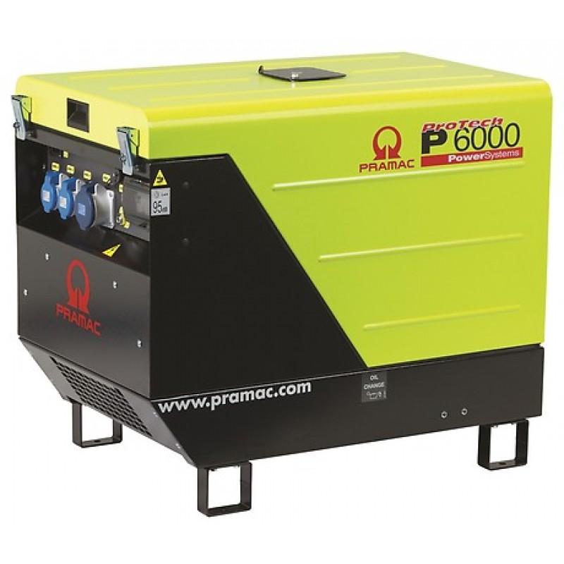 P6000 Ηλεκτρο - Γεννήτρια Πετρελαίου 3-Φασική 5,6 kVA Ηλεκτρική εκκίνηση και χειροκίνητο πίνακα ελέγχου CONN ( δυνατότητα σύνδεσης με AMF) + DPP Yanmar L100 PRAMAC