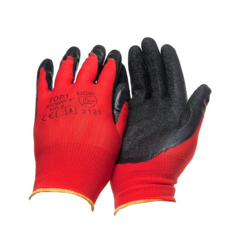 PK 150 Γάντια εργασίας Nylon liner Ρυτιδωμένο latex επένδυση POLROK