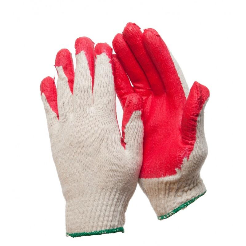 PK 240 XXL Γάντια εργασίας Βαμβακερά latex παλάμη POLROK