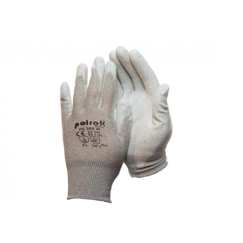 PK 300 W Γάντια εργασίας Αντιστατικά Χαλκού με παλάμη Πολυουρεθάνης (PU) POLROK