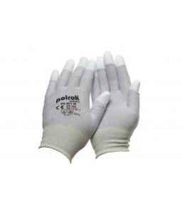 PK 401 W Γάντια εργασίας Αντιστατικά Carbon PU επενδεδυμένα ακροδάκτυλα. POLROK