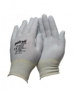 PK 403 W Γάντια εργασίας Αντιστατικά Carbon με PVC τελείες POLROK