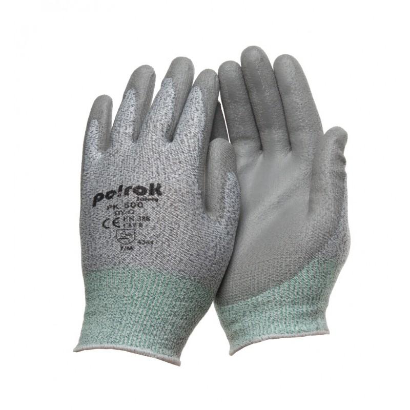 PK 500 G Γάντια εργασίας HPPE με επένδυση παλάμης Πολυουρεθάνη (PU) CUT 3 POLROK