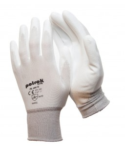 PK 600 W Γάντια εργασίας με παλάμη Πολυουρεθάνης (PU) Άσπρο Πολυεστέρα POLROK