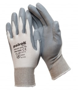 PK 700 Γάντια εργασίας Άσπρο Tsunooga Γκρι Ultra soft PU επένδυση CUT 3 POLROK