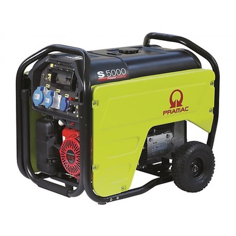 S5000 Ηλεκτρο - Γεννήτρια Βενζίνης 1-Φασική 4,2 kVA Ηλεκτρική εκκίνηση και χειροκίνητο πίνακα ελέγχου CONN ( δυνατότητα σύνδεσης με AMF) + DPP+AVR Honda GX270 PRAMAC