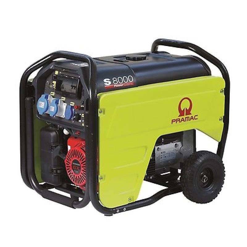 S8000 Ηλεκτρο - Γεννήτρια Βενζίνης 1-Φασική 6,0 kVA Ηλεκτρική εκκίνηση και χειροκίνητο πίνακα ελέγχου CONN ( δυνατότητα σύνδεσης με AMF) + AVR Honda GX390 PRAMAC