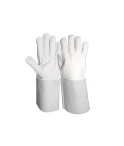 SS 1712 Γάντια εργασίας από Κατσικίσιο Δέρμα παλάμη, Μανσέτα από Μοχσαρίσιο Δέρμα , ελαστική σύσφιξη , (TIG GRIP) POLROK