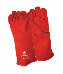 SS 1721 Γάντια εργασίας Ηλεκτροσυγκόλλησης εξολόκληρου από Μοχσαρίσιο Δέρμα και εσωτερική επένδυση POLROK