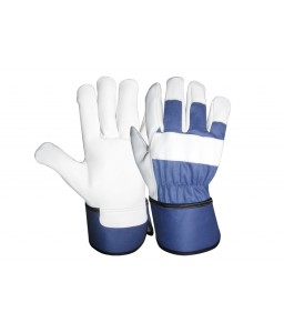 SS 1915 Γάντια εργασίας από Α' ποιότητας Μοσχαρίσιο Δέρμα στην παλάμη και μπλε jean στο πάνω μέρος POLROK