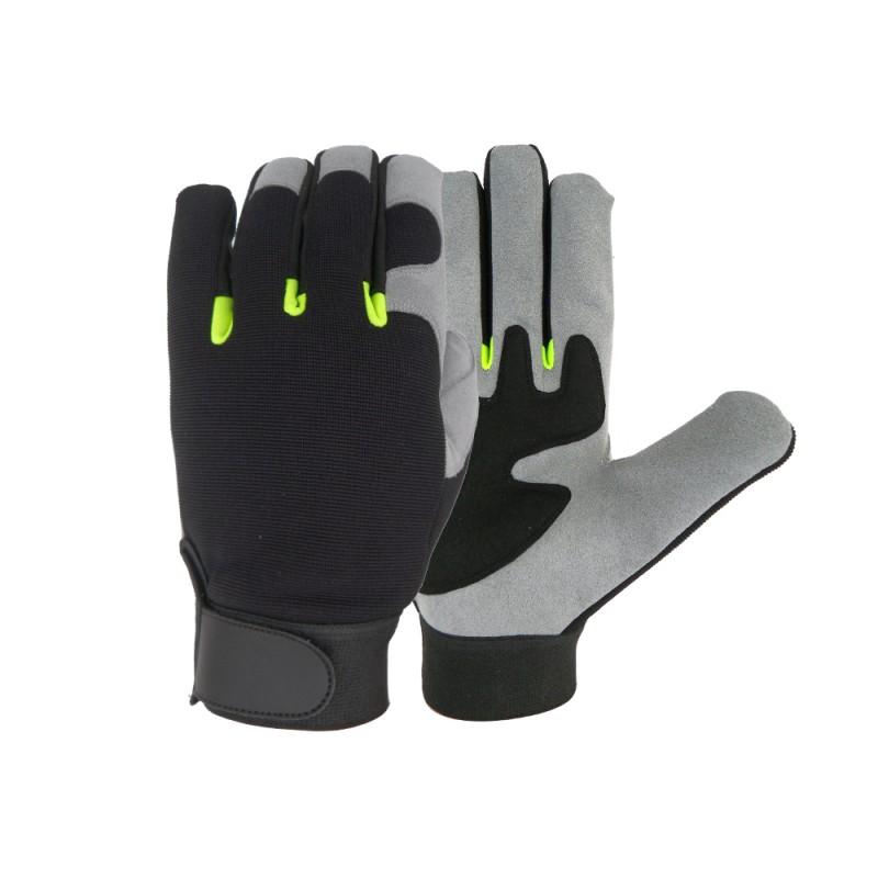 SS 9031 Γάντια εργασίας Μηχανικού, από Γκρι Τεχνητό Δέρμα (Ammara) POLROK