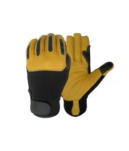 SS 9080 Γάντια εργασίας Μηχανικού, από Κίτρινο κατσικίσιο Δέρμα POLROK