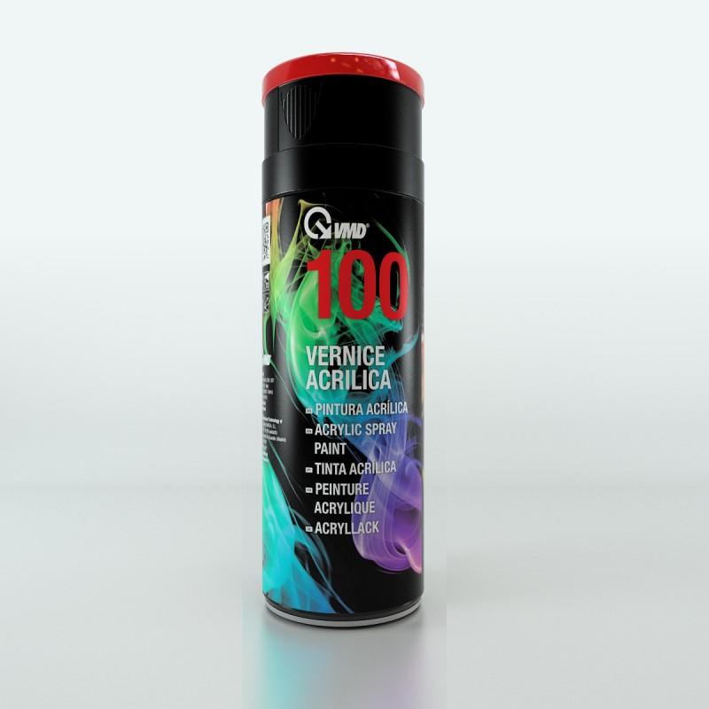 100-9005-SATIN Σπρέι Ακρυλικής Βαφής Μαύρο Σατινέ RAL 9005 400ML