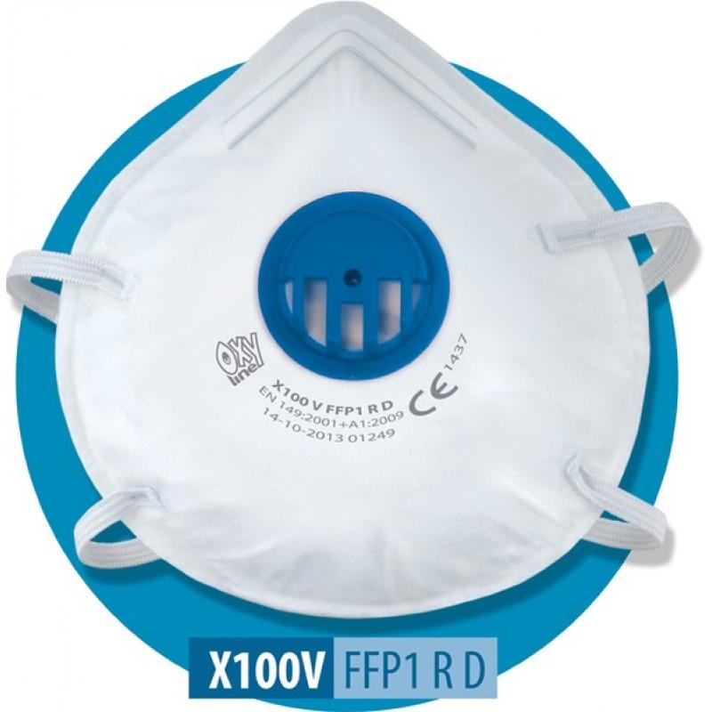 X 100 V FFP1 NR D Μάσκα μιας χρήσης με βαλβίδα εκπνοής