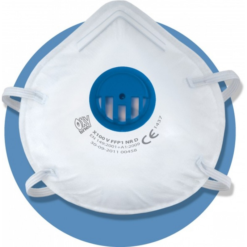 X 110 FFP1 NR D Μάσκα μιας χρήσης με ρυθμιζόμενα κεφαλοδέματα