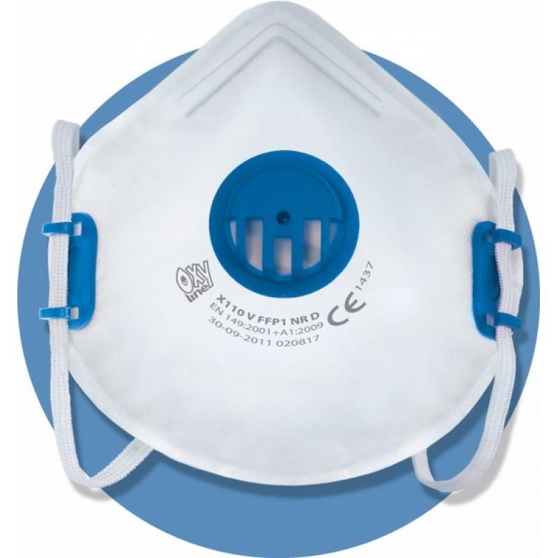 X 110 V FFP1 NR D Μάσκα μιας χρήσης με βαλβίδα εκπνοής και ρυθμιζόμενα κεφαλοδέματα