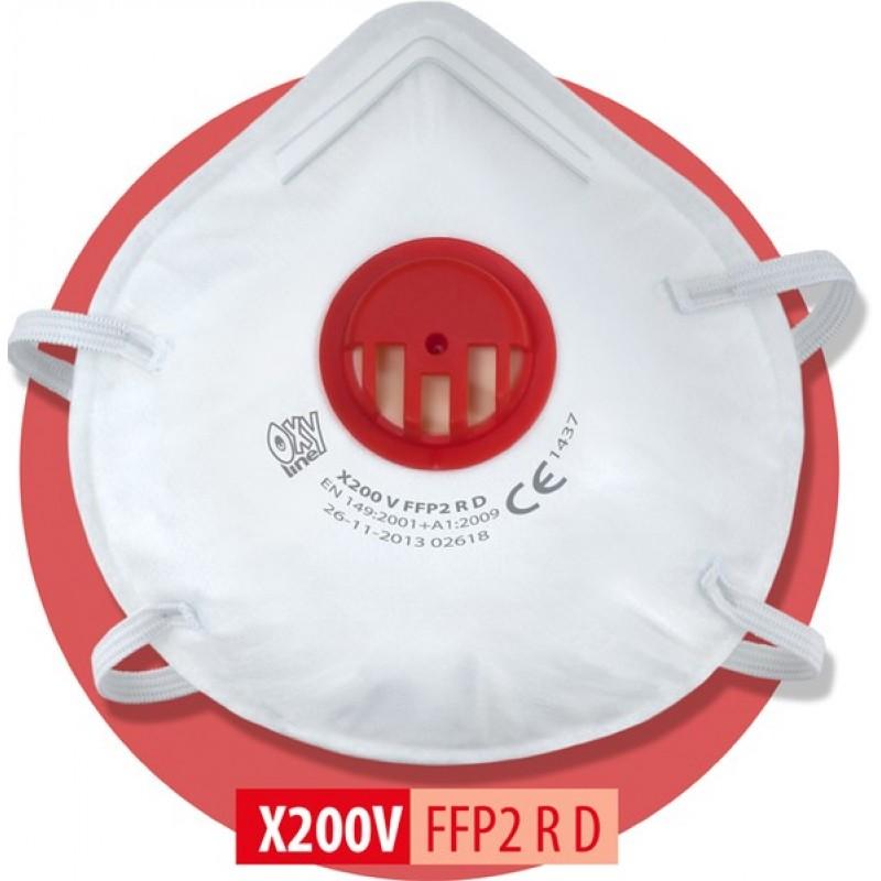 X 200 V FFP2 NR DΜάσκα μιας χρήσης με βαλβίδα εκπνοής
