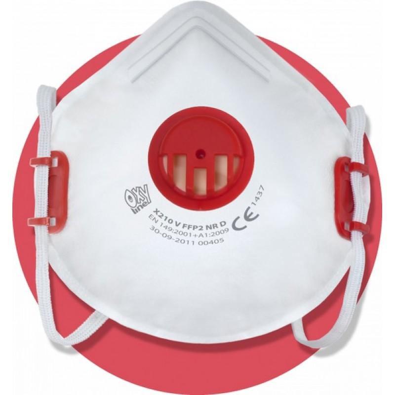 X 210 V FFP2 NR D Μάσκα μιας χρήσης με βαλβίδα εκπνοής και ρυθμιζόμενα κεφαλοδέματα