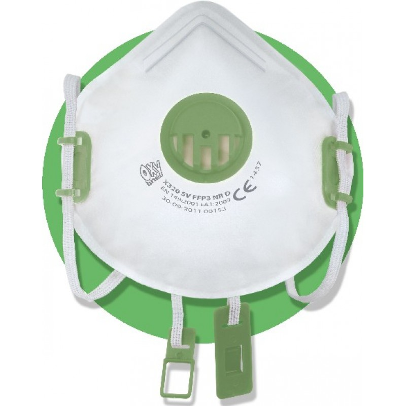 X 320 V FFP3 NR D Μάσκα μιας χρήσης με βαλβίδα εκπνοής και ρυθμιζόμενα κεφαλοδέματα