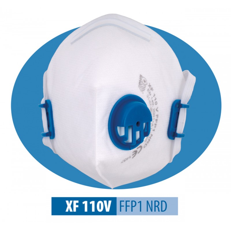XF 110 V FFP1 NR D Μάσκα μιας χρήσης Αναδιπλούμενη με βαλβίδα εκπνοής και ρυθμιζόμενα κεφαλοδέματα