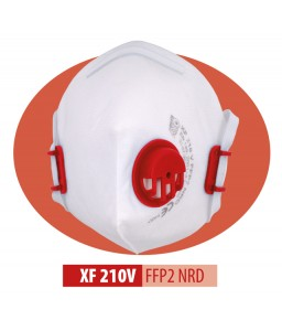 XF 210 V FFP2 NR D Μάσκα μιας χρήσης Αναδιπλούμενη με βαλβίδα εκπνοής και ρυθμιζόμενα κεφαλοδέματα