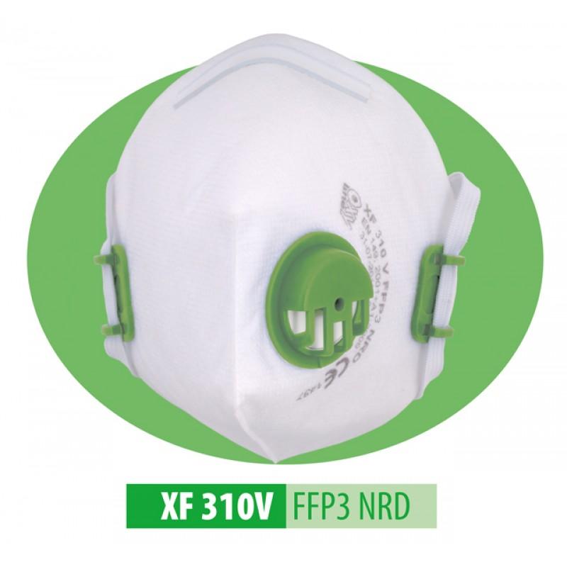 XF 310 V FFP3 NR D Μάσκα μιας χρήσης Αναδιπλούμενη με βαλβίδα εκπνοής και ρυθμιζόμενα κεφαλοδέματα